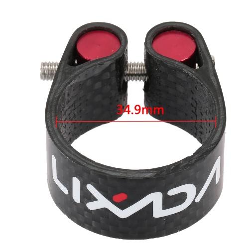 Lixada in fibra di carbonio reggisella morsetto leggero 30,2 mm 34,9 mm Accessori ciclismo