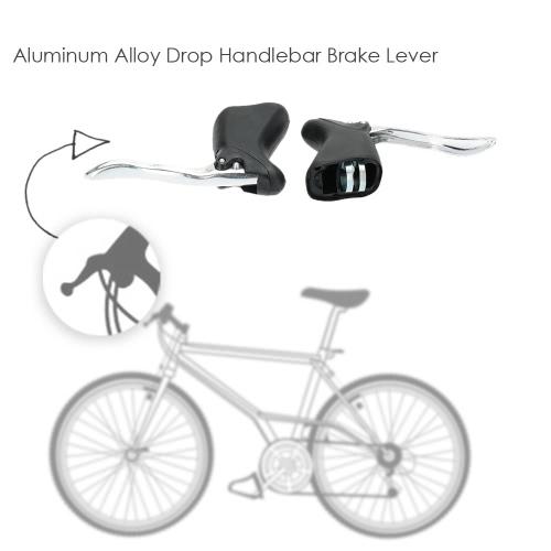Set de 1 par carretera bicicleta bicicleta delantera y trasera freno palancas aluminio aleación gota manillar palanca de freno