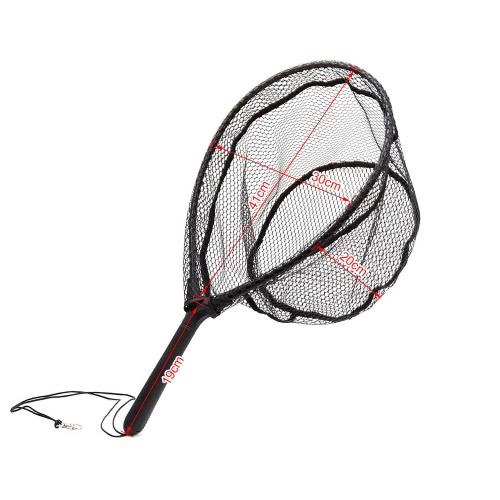 Fliegenfischen Brail Kescher Nylon Fischernetz mit ABS Handgriff Aluminium Rahmen