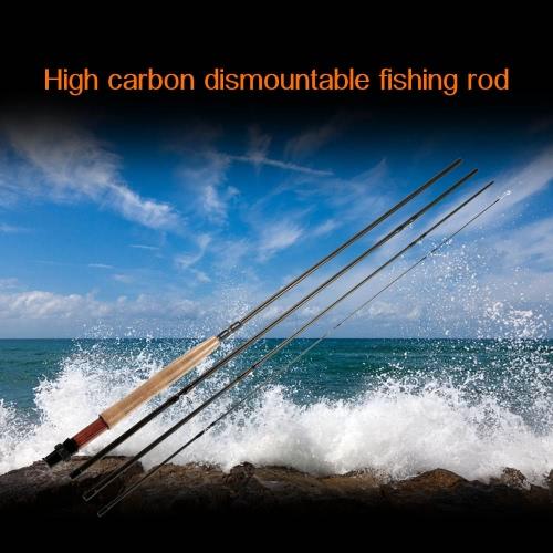 4つの小品パワフル&高感度2.7Mカーボン釣りロッド取り外し可能なポータブル釣りロッド