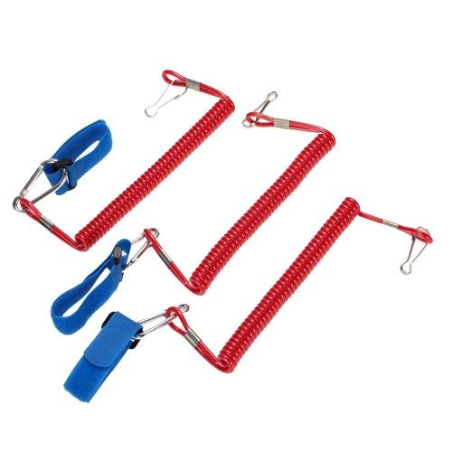 3pcs arrotolato Paddle Leash elastico Kayak canoa sicurezza Rod guinzaglio Kayak accessorio Stretch a 195cm