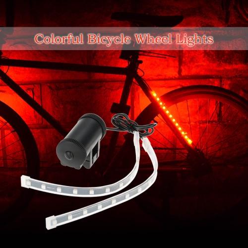 Luci della rotella della bicicletta luci 24Pcs luce colorata lampade a LED anteriore della bicicletta posteriore Forcella Luce