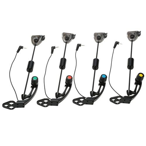 Lixada  4 PCS Set LED gancio sensore Swinger Scambisti pesca illuminato nelle cause Bite Indicator Carp Fishing Wiggler Attrezzatura di pesca Kit