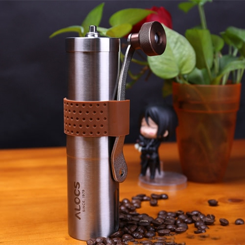 In acciaio inox manuale Coffee Grinder manovella a mano Coffee Mill Spice Grinder Herb Grinder