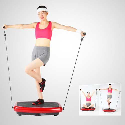 TOMSHOO Whole Body Vibration Plattform Platte Fitnessgerät Workout Trainer Hüften Übung Ausrüstung Muskel Weight Loss