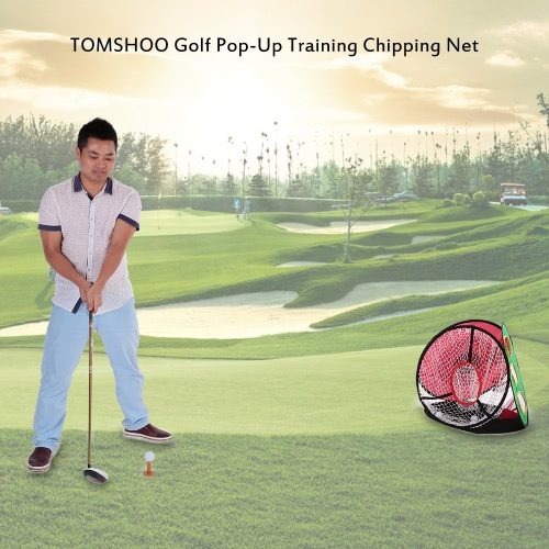 TOMSHOO Golf Pop-Up Trainings Chipping Net Schlagen Aid Praxis Indoor Outdoor-Tasche