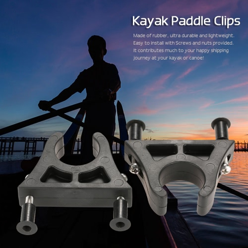 2 PC-Boot-Kajak-Kanu-Paddel-Halter Keeper Berg Paddle Clips Well Nuts