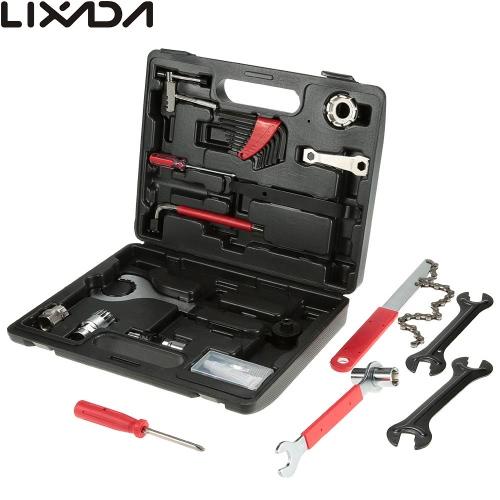 Multi-funzione Lixada professionale Universal Home Outdoor Scopo della bicicletta di riparazione Tool Set Kit