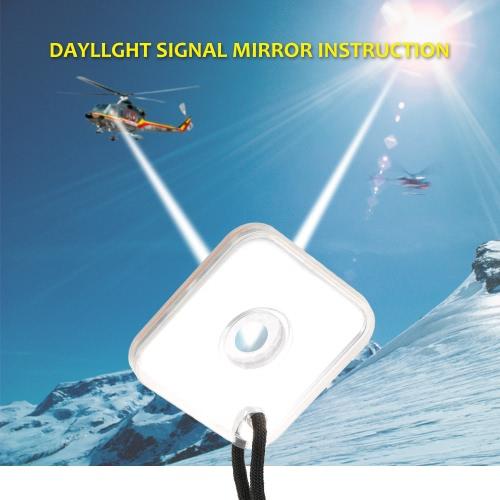 Heliograph Signal Spiegel mit Whistle Notüberlebens Werkzeug