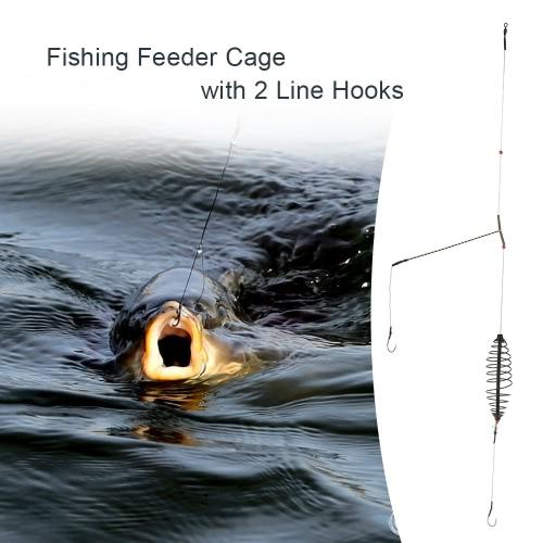 Pesca Gabbia Bait Lure con 2 Linea Ganci Carp Feeder attrezzatura da pesca Accessori 7cm / 9 centimetri