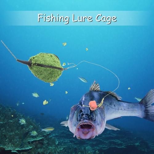 Gabbie 4PCS Bait Inline Metodo Feeder carrello Fishing Lure Cage pesce esca Basket Holder Pesca Accessori con Piombo Sinker 30g 40g 45g 60g