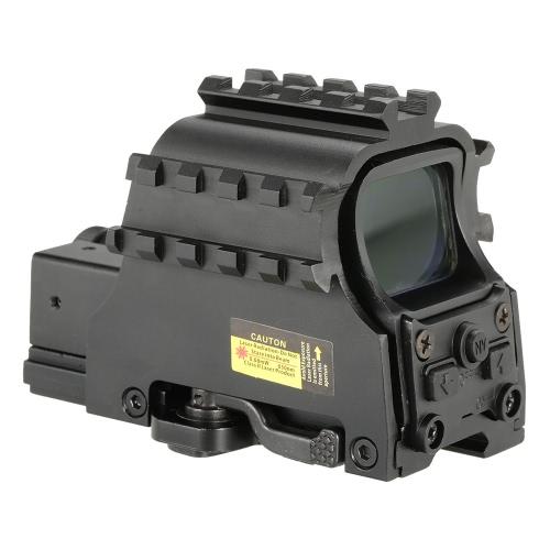 Sin cámara al aire libre táctico Riflescope Holográfico Verde Red Dot Sight Óptica Mira telescópica Ámbito de caza