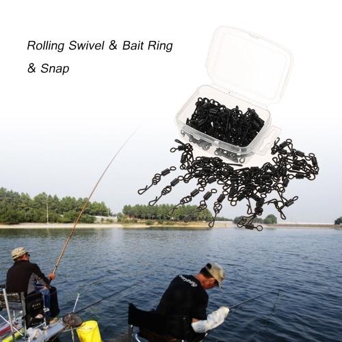 100pcs di rotolamento girevole Bait Anello Hooked Snap Combo per Carp Rigs Ganci Carp Fishing Tackle Accessori