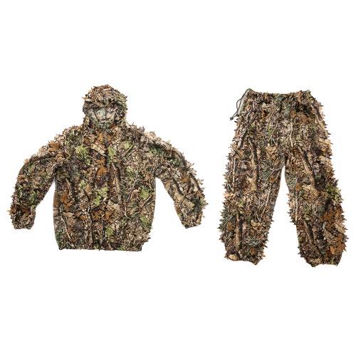 Camuffamento foglia di caccia del rivestimento del vestito pantaloni Bionic Guerriero Ghillie Vestito per caccia Giochi