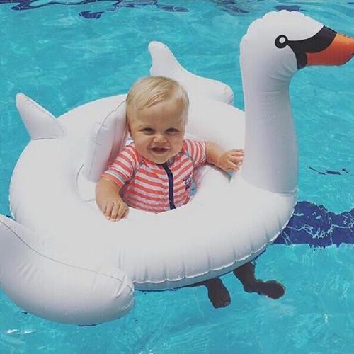 80 * 105 * 60cm Swim Swan Kleinkind Baby-Pool-Spielzeug Inflatable Boat Floats Schwimm Swan Raft für kleine Kinder