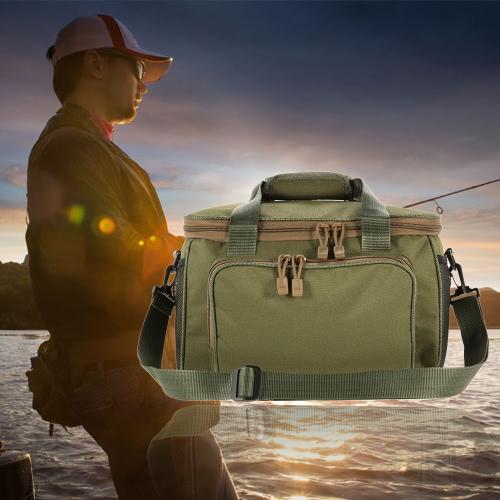 Multifunzionale portatile della tela di pesca della spalla del pacchetto di pesca Tackle Bag Fishing Lure bobina Custodia Borsa