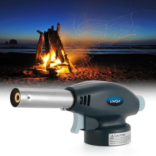 Lixada la llama de gas butano de la antorcha encendedor del quemador de encendido espontáneo lanzallamas para acampar al aire libre barbacoa