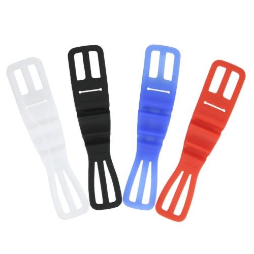 Confezione da 4 bicicletta bicicletta bicicletta Bicicletta elastico in silicone fascia cellulare supporto supporto cinturino