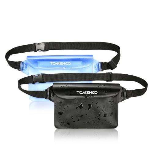 TOMSHOO 2 Pack Outdoor Sport Wasserdichte Tasche Trockene Tasche Hülle Taille Fanny Pack für Strand Kayaking Angeln Bootfahren Schwimmen