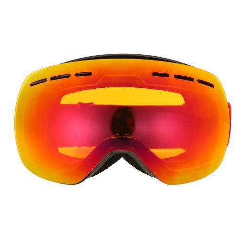 Occhiali da sci invernali Protezione UVA400 Dual Lens Occhiali da snowboard OTG Occhiali da neve sferici Occhiali da sci