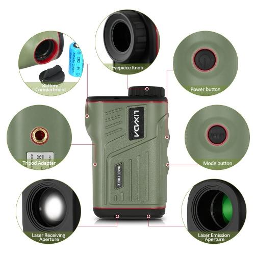 Lixada Outdoor Compact 6X22 Laser Rangefinder