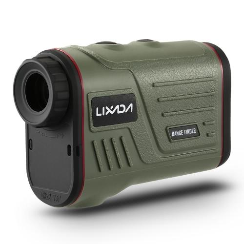 Lixada Outdoor Compact 6X22 Laser Entfernungsmesser 600m Golf Range Finder Jagd Monocular Teleskop Distanzmesser Geschwindigkeit Tester