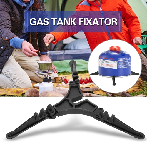 Outdoor Stove Burners Canister Stabilizer Bracket Gas Tank Stand Tripod Support Folding Fuel Tank Tool Equipment Camping Travel Backpacking Gas Bottle Shelf Fixator