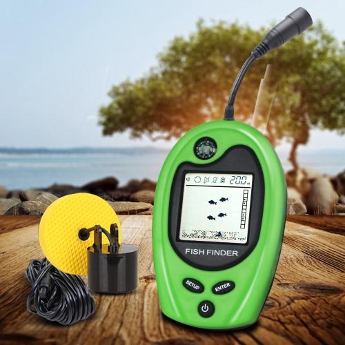 LUCKY FF818 Портативный Проводной Fish Finder Sounder Fish Alarm Fishfinder 100M Рыболовный эхолот Fish Detector фото