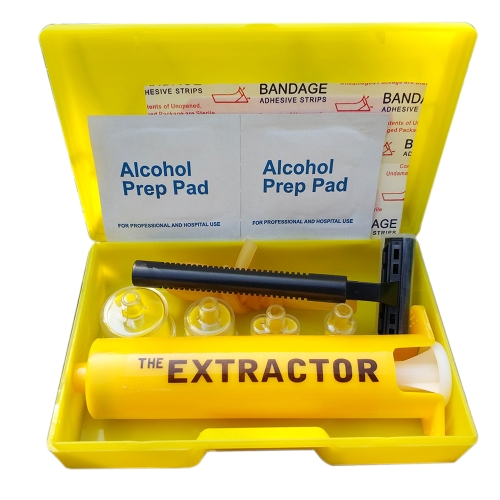 Outdoor Emergency Venom Extractor Sting Kit Primeiros Socorros