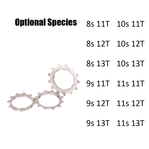 ZTTO 8/9/10/11 Speed 11T/12T/13T Freewheel Flywheel Pinion for Bicycle Bike MTB Cassette Cog in Mountainous Region and Highway Y7147-9