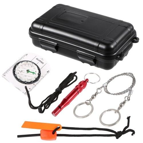 Наружное аварийное оборудование SOS Kit Первая помощь Box Поставки Camping Travel Survival Gear Tool Kits