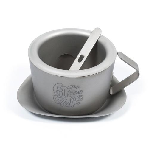 200ml Ultraleicht Doppelwandige Titanium Kaffeetasse