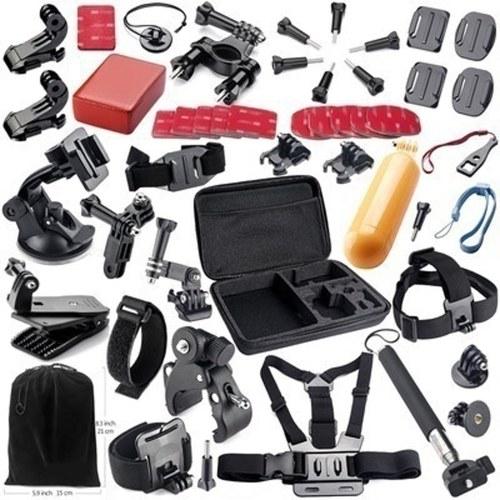 44 unids Accesorios de la cámara Herramientas de la leva para el conjunto de herramientas de protección de cámaras de fotografía al aire libre para GoPro Hero 5 5s 4 3 SJ4000 SJCAM Xiaomi Yi 2 Cámara GS02