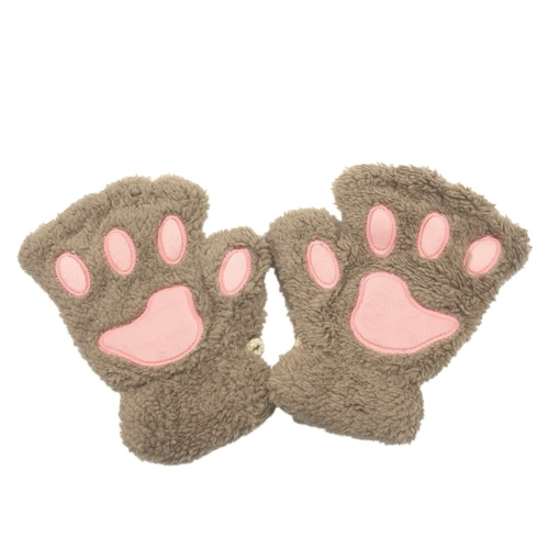 Frauen-reizender Bär-Plüsch-Katzenpfoten-Klauen-Handschuh