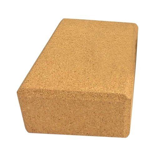 Yoga-Block Korkholz Yoga-Ziegel Weicher Yoga-Block mit hoher Dichte zur Unterstützung von Posen