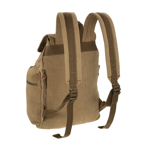 TOMSHOO Multifunction Canvas Backpack Vintage Shoulder Bag фото