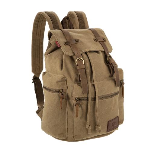 Laptop Backpack TOMSHOO multifunzione zaino della tela di canapa Vintage spalla borsa da viaggio sacchetto esterno di svago degli uomini Zaino