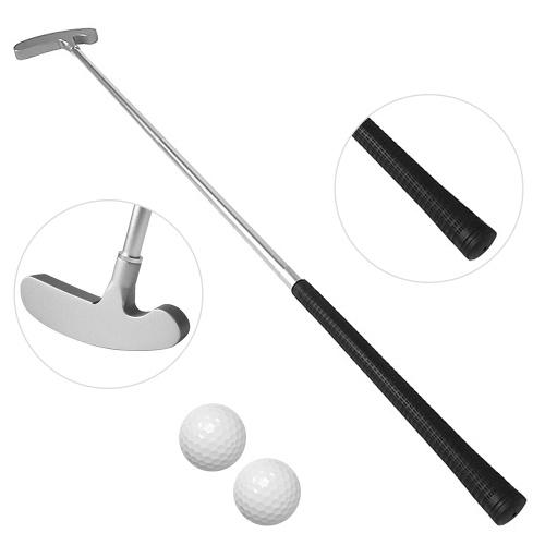 Портативный тренажер для гольфа Chipper Club Golf Putter Набор для гольфа с 2 тренировочными мячами для использования внутри помещений на открытом воздухе