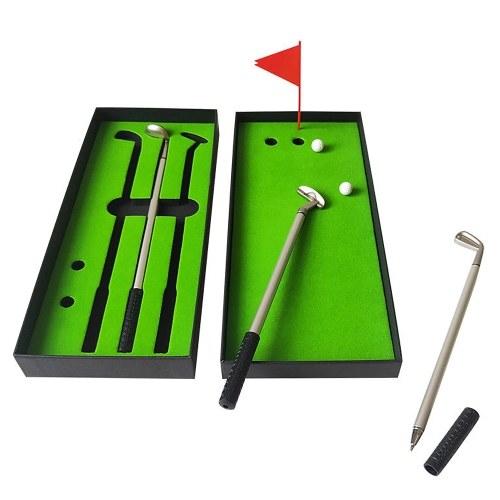 Conjunto de caneta de golfe de mesa portátil Conjunto de bandeiras de caneta esferográfica de golfe de mesa Mini jogos de mesa Presentes criativos