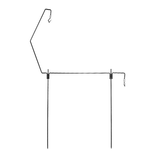 Outdoor Camping Solid Rack Multi Functional Cookware Rack Folding Steel Hanging Rack Portable Camping Accessory