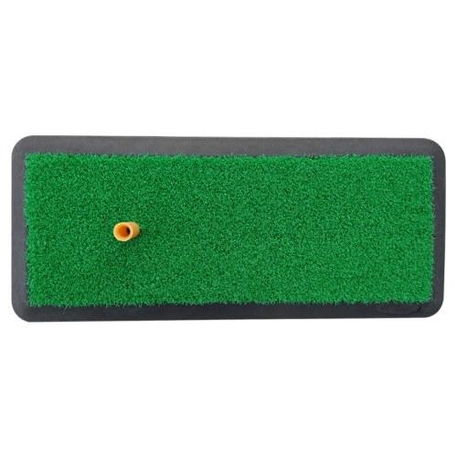 Tapete de golfe com suporte de borracha para Tee Auxiliares de treinamento de golfe Condução Chipping Putting Golfe Bater grama para interior e exterior (relvado único)