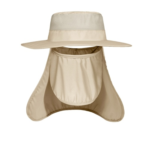 Sun Hat UV Protection Detachable Face Cover Neck Flap Wide Brim Fishierman Hat Breathable Windproof Cap Fishing Hiking Cycling