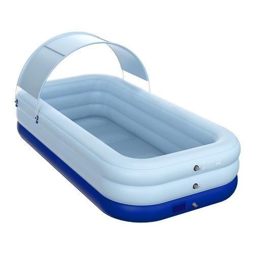 Авто надувной бассейн Солнцезащитный надувной плавучий плот Съемный навес для вечеринки на открытом воздухе на заднем дворе