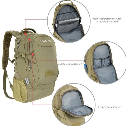 TOMSHOO 25L Outdoor Sport Backpack Tactical Pack Travel Bag