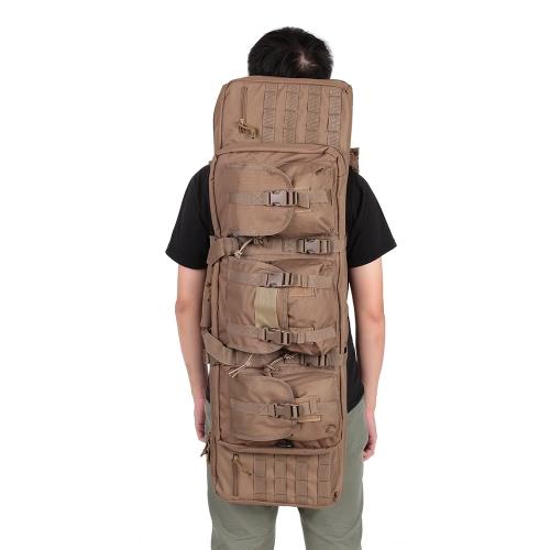 Высокое качество Мужчины Женщины Открытый охотничий карабин чехол Дважды сумка Охота Рюкзак сумки охотничье снаряжение