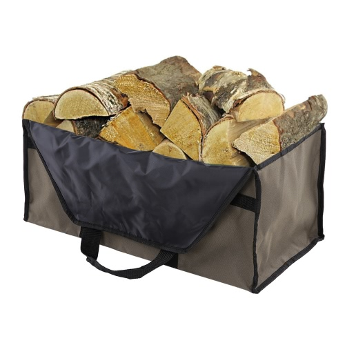 Campeggio esterno Borsa grande in legno in tessuto Oxford Borsa Log Carrier Tote carbone di legna da ardere Holder 2 Manici Borsa