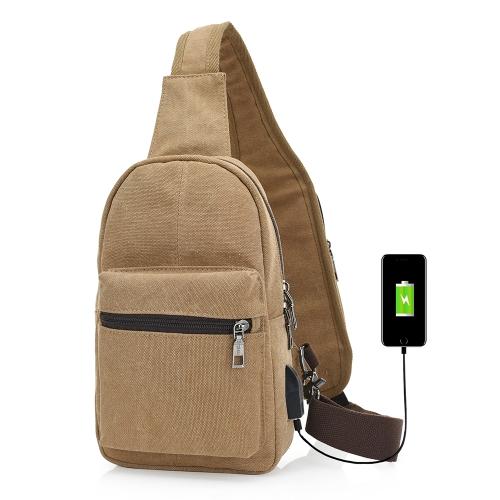 Zaino con fodera in tela con porta di ricarica USB e fori per le cuffie