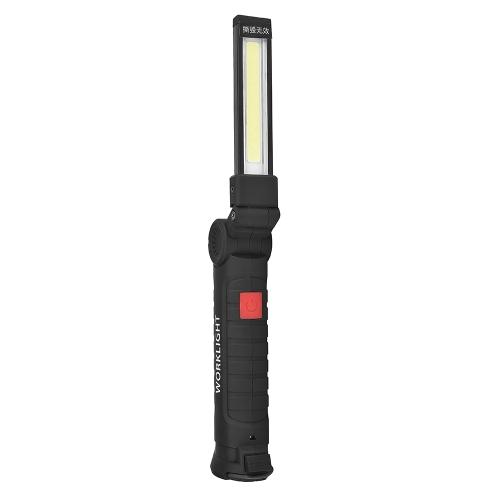 Аккумуляторный светодиодный фонарик 360 ° Вращающийся складной свет работы Контрольная лампа ручной фонарик Магнитный кемпинг Палаточный фонарь