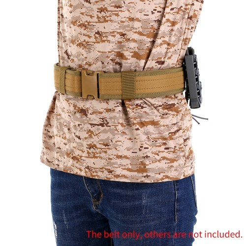 2IN Hunting Belt Training Heavy Duty Waist Belt Outdoor Combat Utility Belt with Quick Release Buckle