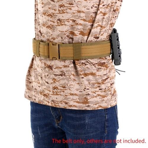 2IN Hunting Belt Training Heavy Duty Waist Belt Outdoor Combat Utility Belt with Quick Release Buckle